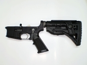Complete AR-15 Lower Receiver With FAB GL-ShockCP Stock