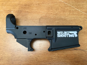 AR-15 Stripped Lower Receiver - We Like Shooting Edition